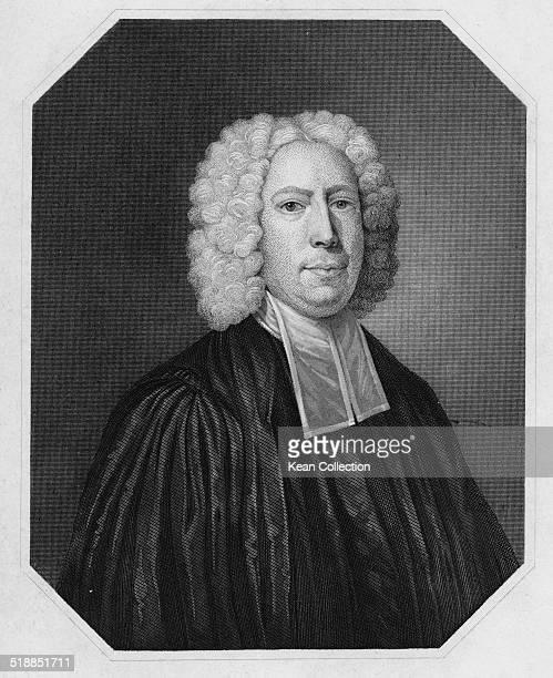 American clergyman educator and philosopher Reverend Doctor Samuel Johnson circa 1755