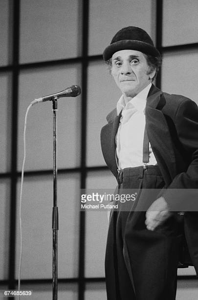 American clown and comedian George Carl performing at the Royal Variety Performance Theatre Royal Drury Lane London 7th November 1983
