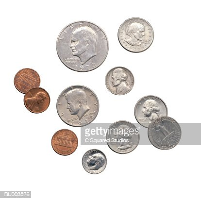 American Coins : Stock Photo