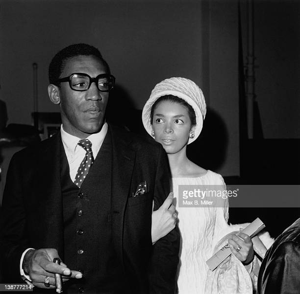 American comedian and actor Bill Cosby and his wife Camille Hanks attending a charity benefit in Santa Monica Los Angeles November 1966 Cosby is...