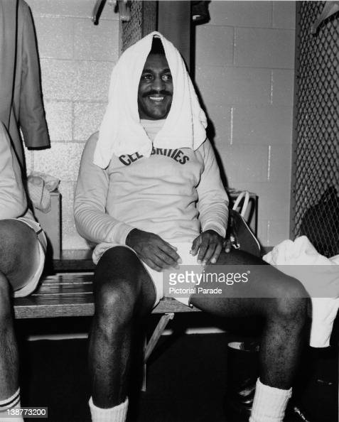 American comedian and actor Bill Cosby in the changing room during a celebrity basketball game Harlem Globetrotters vs Hollywood Celebrities at the...