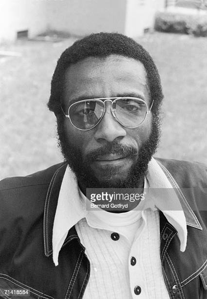 American comedian and social activist Dick Gregory poses for a portrait outside New York 1971