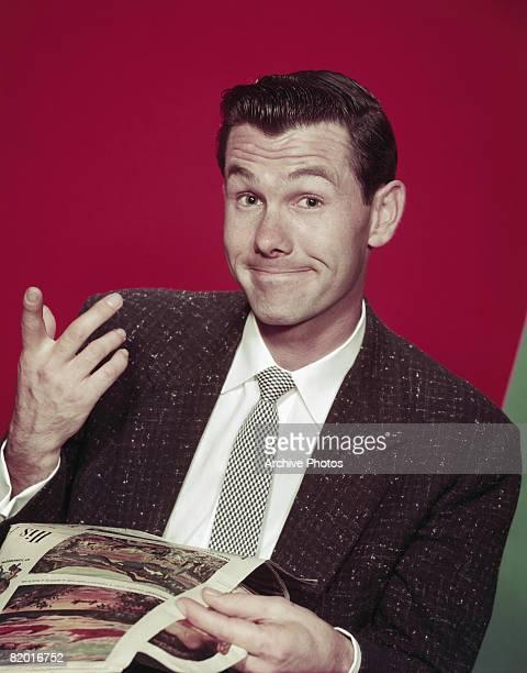 American comedian and television presenter Johnny Carson circa 1960
