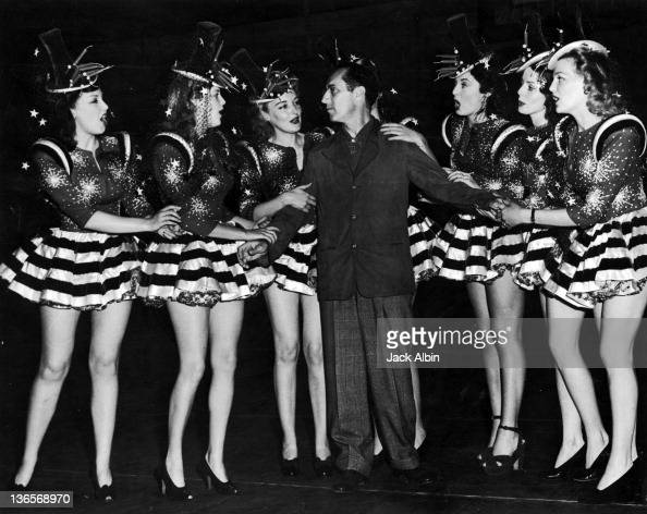 American comedian Groucho Marx with showgirls on the Hollywood Victory Caravan USA 1943 The Hollywood Victory Caravan toured thirteen cities by train...