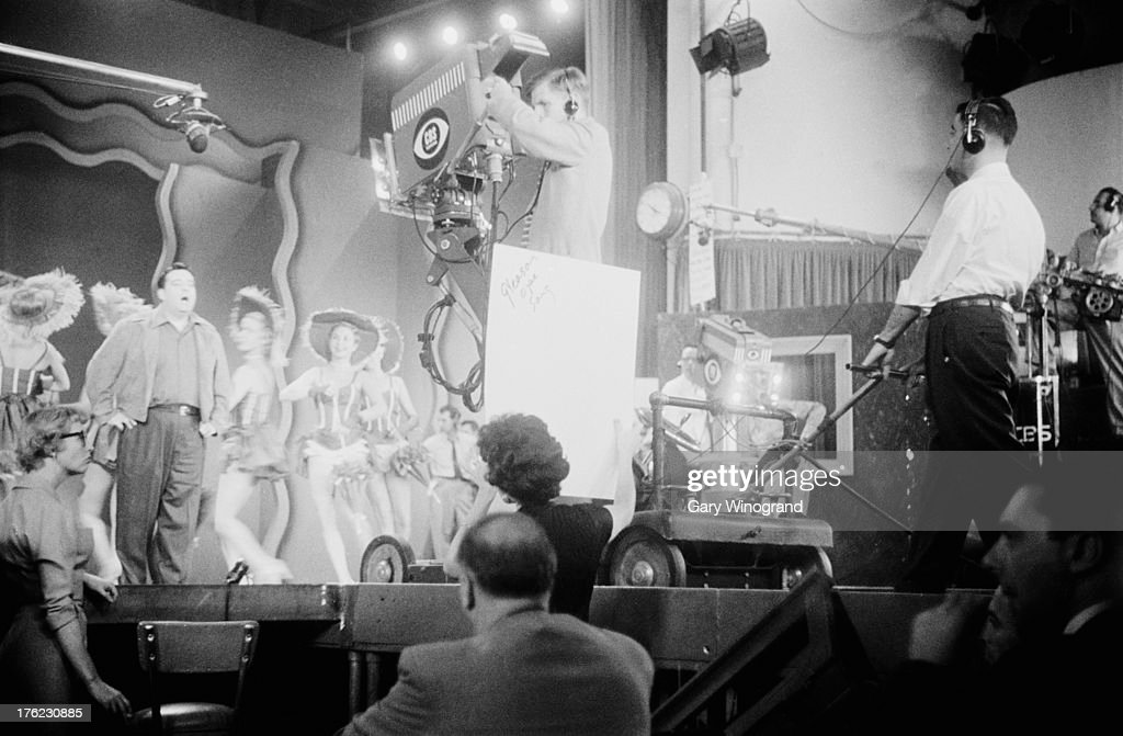 American comedian Jackie Gleason rehearsing his variety show at CBS television's studio in New York November 1953 Original Publication Picture Post...