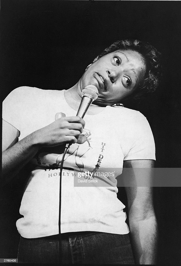 American comedian Marsha Warfield cocks her head while performing her stand-up comedy routine on stage, October 16, 1979.