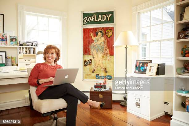 American comedian writer and actress Joy Behar is photographed in her home for People Magazine on January 20 2017 in Sag Harbor New York ON DOMESTIC...