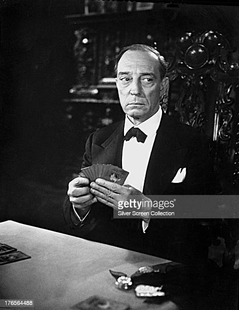 American comic actor and filmmaker Buster Keaton as himself in 'Sunset Boulevard' directed by Billy Wilder 1950