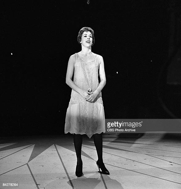 American commedienne Carol Burnett performs on an episode of 'The Garry Moore Show' New York New York October 30 1959