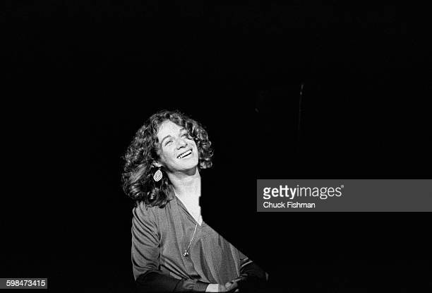American composer and musician Carole King performs onstage at Southern Illinois University Carbondale Illinois 1976
