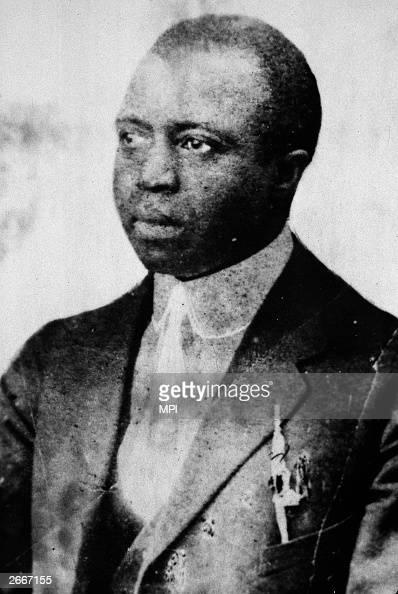 American composer and pianist Scott Joplin An originator of 'Ragtime' music