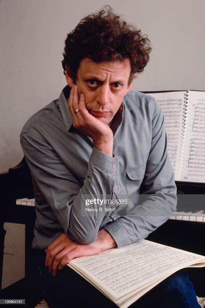 American composer Philip Glass, 1988.