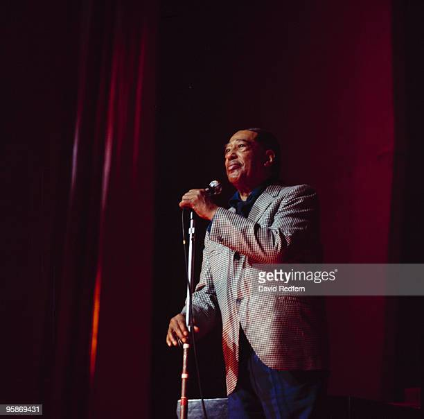 Duke Ellington performs on stage with his Big Band at the Hammersmith Odeon in London England on November 29 1969