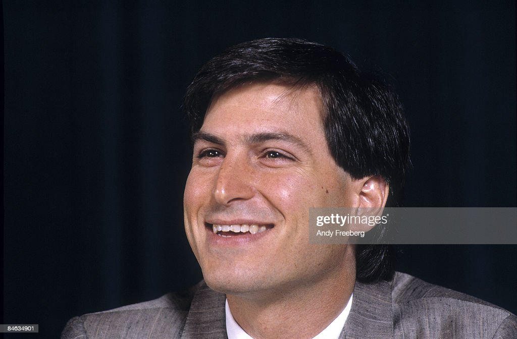 American computer magnate and co-founder of Apple Computer Inc. Steve Jobs (1955 - 2011) at a press conference to announce Microsoft's Excel software program at Tavern on the Green, New York, New York, May 2, 1985. The event was hosted by Micrososoft co-founder Bill Gates and endorsed by Jobs.