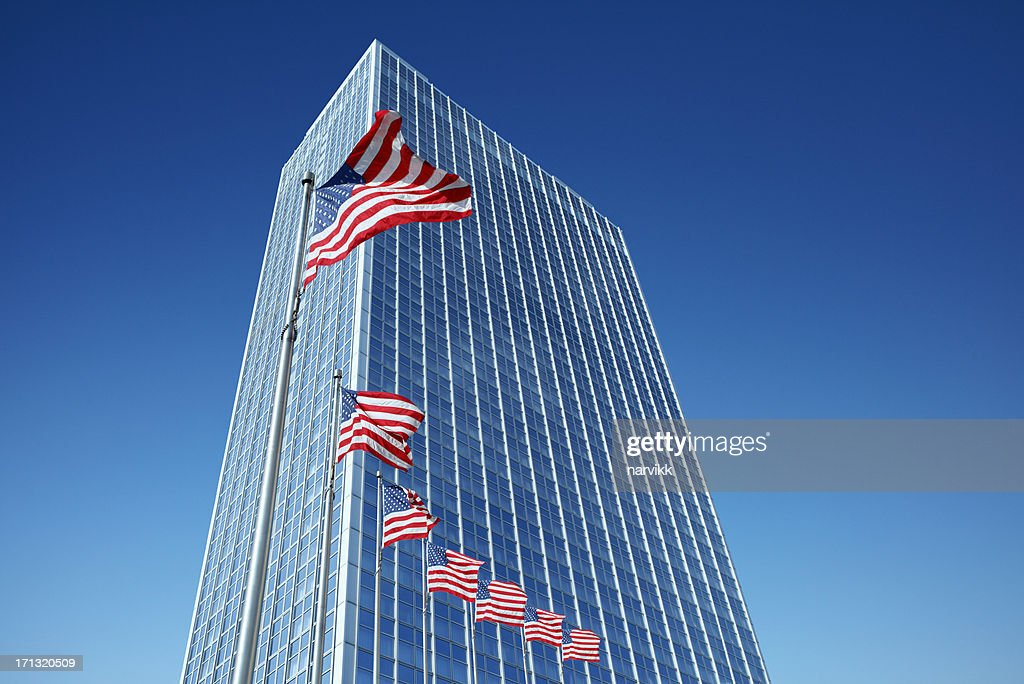 American corporate office building : Stock Photo