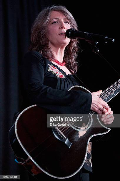 American country and bluegrass singersongwriter Kathy Mattea performs at the 24th International Folk Alliance Conference 2012 at the Downtown...