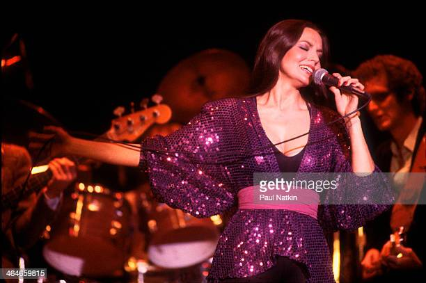 American country and pop musician Crystal Gayle performs onstage at Park West Chicago Illinois October 5 1979