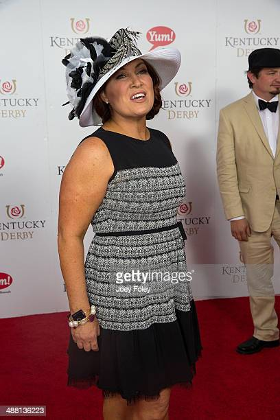 American country music artist Jo Dee Messina attends the 140th Kentucky Derby at Churchill Downs on May 3 2014 in Louisville Kentucky