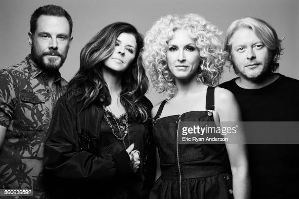 American country music group Little Big Town Karen Fairchild Kimberly Schlapman Jimi Westbrook and Phillip Sweet are photographed at the 2017 CMA...