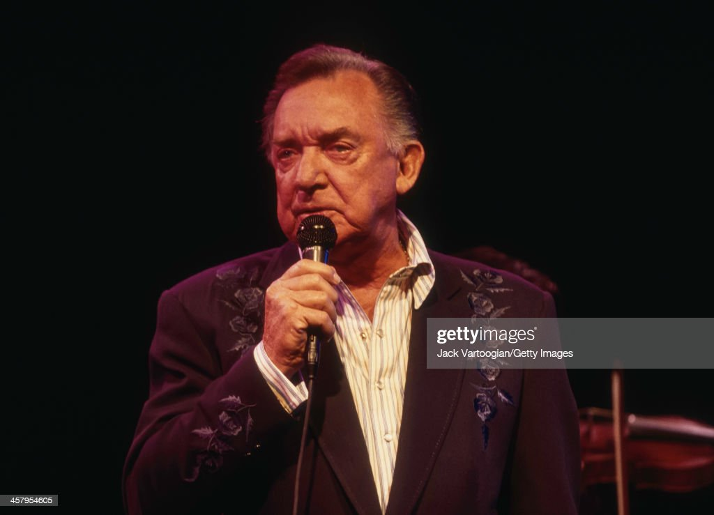 American country music singer and songwriter Ray Price (born Noble Ray Price, 1926-2013) performs in New York City for the first time in over 30 years at the Bottom Line in Greenwich Village, New York, New York, June 14, 2000.