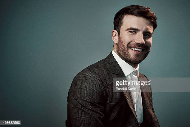 American country music singer and songwriter Sam Hunt poses for a portrait at the 2015 American Music Awards on November 22 2015 in Los Angeles...