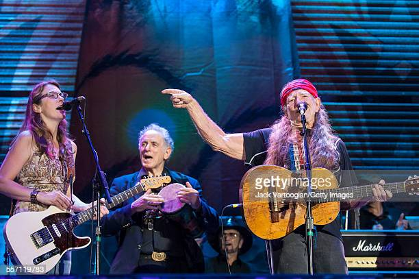 American country musician and Farm Aid founder Willie Nelson performs at the 22nd Annual Farm Aid concert on Randall's Island New York New York...