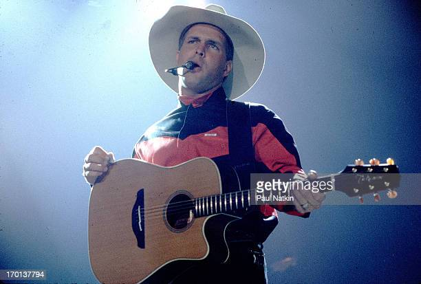 American country musician Garth Brooks performs onstage Chicago Illinois October 1 1993
