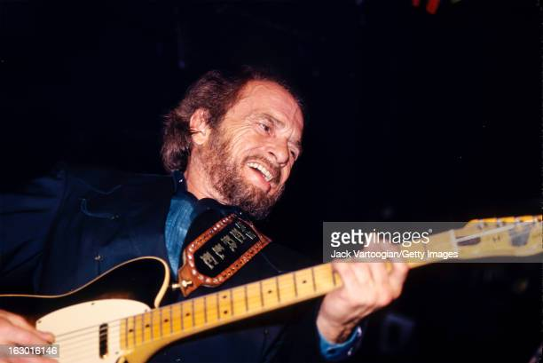 American country musician Merle Haggard leads his band the Strangers during a performance at Tramps New York New York May 10 1996