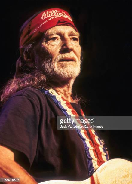 American country musician Willie Nelson performs at Irving Plaza New York New York April 19 2000