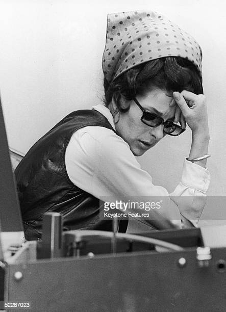 American country singer Bobbie Gentry pauses for thought during a rehearsal for her new BBC TV show in England July 1968