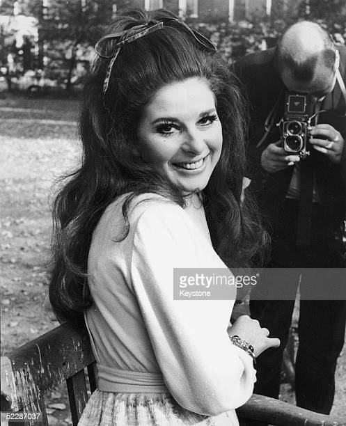 American country singer Bobbie Gentry poses for a photographer during a visit to London to promote her current British Number One 'I'll Never Fall in...