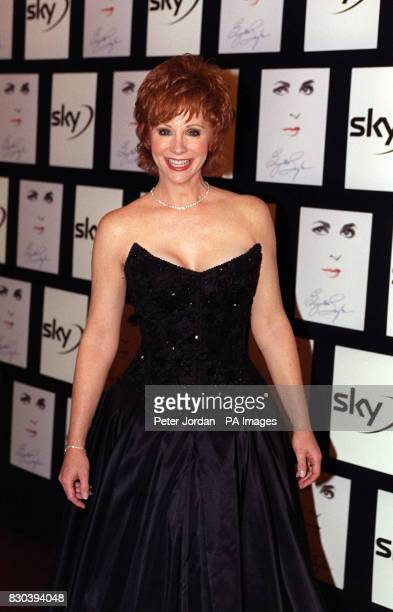 American country singer Reba McEntyre after performing at a gala charity concert honouring the career life and fundraising achievement of Dame...