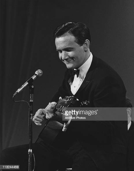 American country singer Roger Miller performing on his television show in 1966