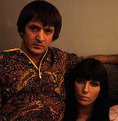 American couple Sonny Bono and Cher in 1965