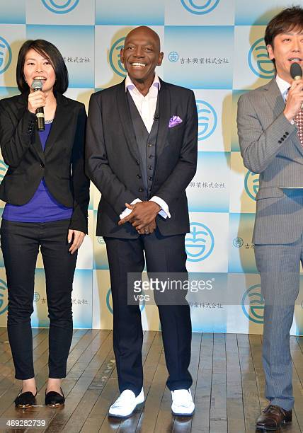 American dancer Hinton Battle attends a press conference after he was hired by Yoshimoto Kogyo Co Ltd as a dance teacher at Yoshimoto Kogyo...