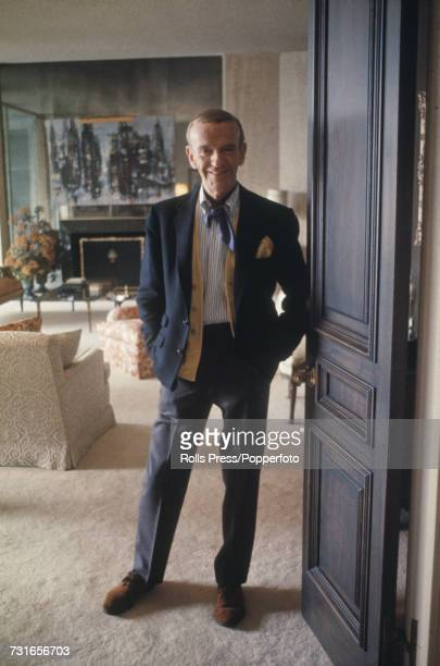 American dancer singer and actor Fred Astaire pictured at home in Beverly Hills Los Angeles in February 1968