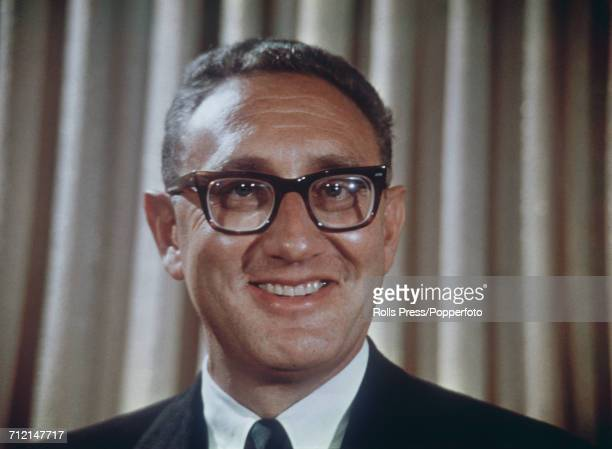 American diplomat and National Security Advisor to United States President Richard Nixon Henry Kissinger pictured in January 1969