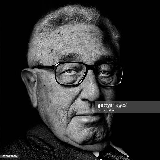 American diplomat and political scientist Henry Kissinger during one of his regular visits to the American Embassy residence in Paris France 16th May...