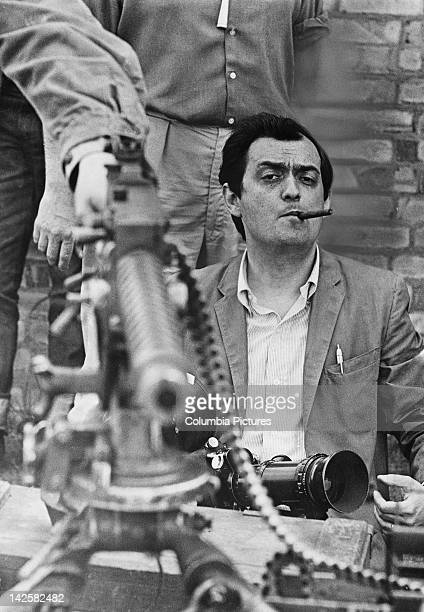 American director and screenwriter Stanley Kubrick on the set of his film 'Dr Strangelove or How I Learned to Stop Worrying and Love the Bomb' 1963