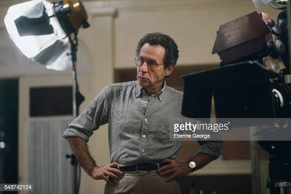 American director Arthur Penn on the set of his film 'Target'