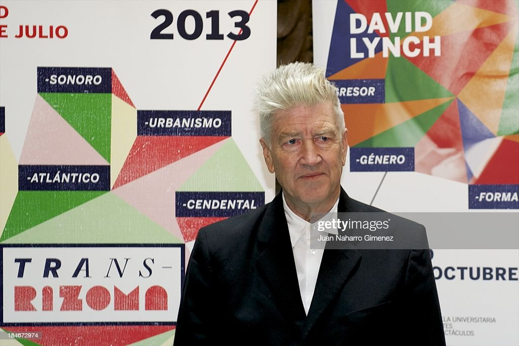 American director <a gi-track='captionPersonalityLinkClicked' href=/galleries/search?phrase=David+Lynch&family=editorial&specificpeople=224589 ng-click='$event.stopPropagation()'>David Lynch</a> attends Rizoma Festival photocall at Urban Hotel on October 15, 2013 in Madrid, Spain.