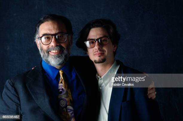 American director Francis Ford Coppola with his son Roman Coppola on the set of his film 'Dracula' based Bram Stoker's novel by the same title The...