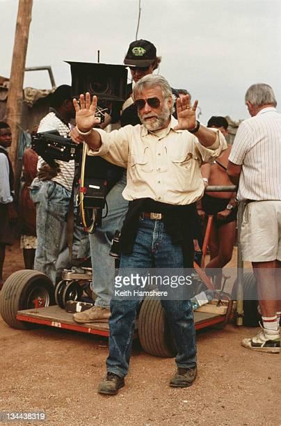 American director John G Avildsen on the set of the film 'The Power of One' 1992