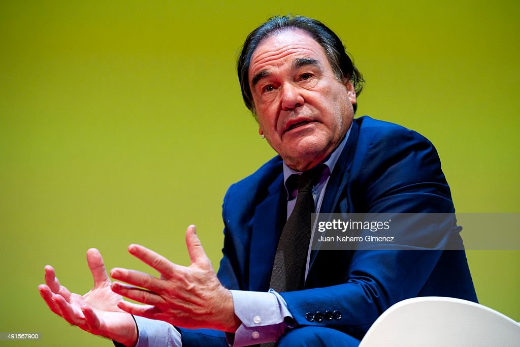Oliver Stone Attends World Business Forum Madrid