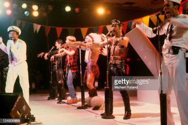 American disco group Village People performing in Florida March 1979 Left to right Victor Willis Randy Jones David Hodo Felipe Rose Glenn Hughes and...