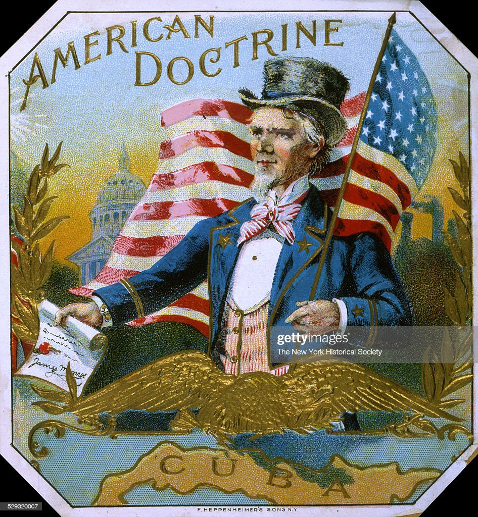 American Doctrine' Cigar Box Label 1895 Lithograph by F Heppenheimer's Sons NY