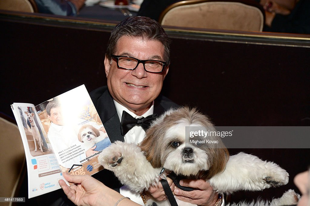 American Dog Rescue Foundation Arthur E Benjamin and Bandit attend the Humane Society of The United States 60th Anniversary Gala at The Beverly...
