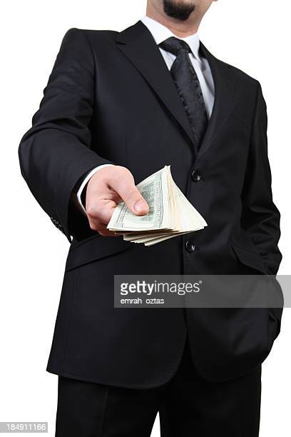 Dollaro americano in una mano