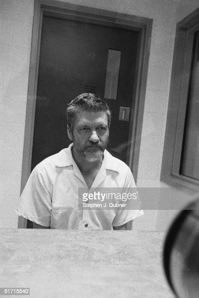 **EXCLUSIVE** American domestic terrorist luddite and mathematics teacher Ted Kaczynski listens during an interview in a visiting room at the Federal...