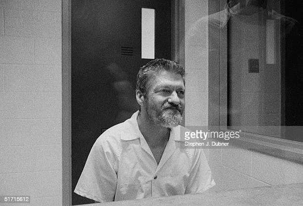 **EXCLUSIVE** American domestic terrorist luddite and mathematics teacher Ted Kaczynski sits during an interview in a visiting room at the Federal...